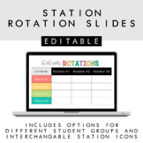 Station Rotation Slides + Timers + Distance Learning
