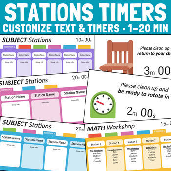 station rotation timers editable powerpoint templates by the lost