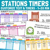 Station Rotation Timers for PowerPoint - Editable Templates