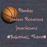 Station Rotations SmartBoard - Basketball Theme - Centers - Reading