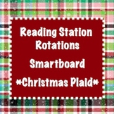 Station Rotations SmartBoard - Christmas Plaid - Centers