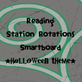 Station Rotations SmartBoard - Halloween Theme - Centers