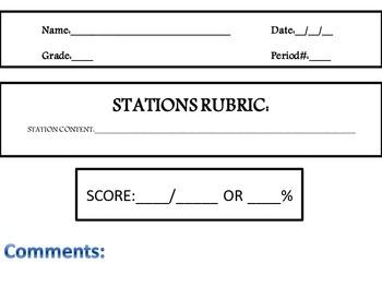 Station Rubric