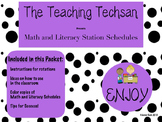 Station Schedules for Math and Literacy Rotations