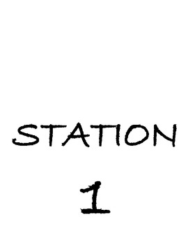 Station Science Signs- 20 signs, different fonts