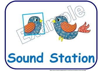 Station Signs: Bird-Themed