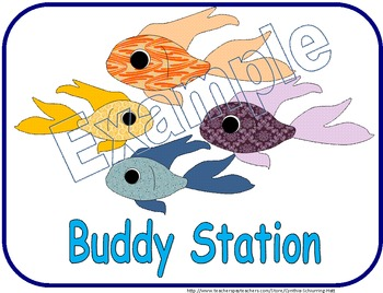 Station Signs: Fish-Themed