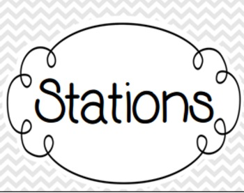 Station Signs - Gray & White Chevron