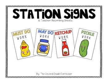 Station Signs: Must Do, May Do, Ketchup, Pickles