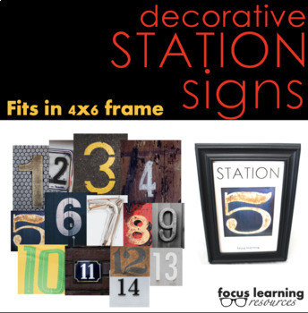 Station Signs for Any Subject