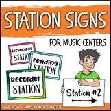 Station Signs for Music Centers - Elementary Music Learnin