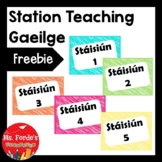 Station Teaching Labels (GAEILGE)