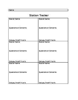 Station Tracker