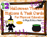 Physical Education Station and Task Cards - Halloween Themed
