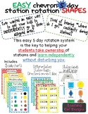Station rotation charts for centers! Easy & INDEPENDENT! Chevron shapes 5 days