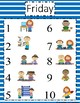 Station rotation charts for centers! Easy & INDEPENDENT! Stripes 5 days