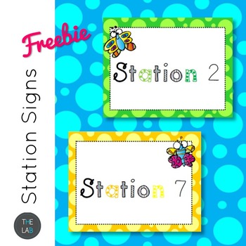 FREEBIE: Station signs for task cards and circus activities