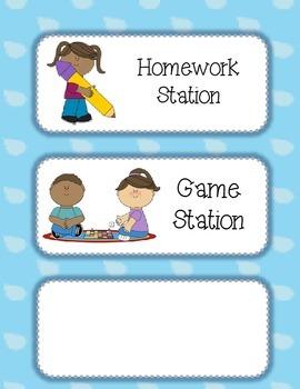 Station/Center Labels