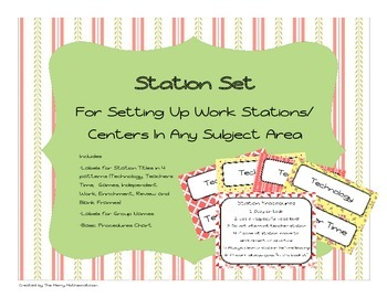 Station/Center  Labels for Any Subject