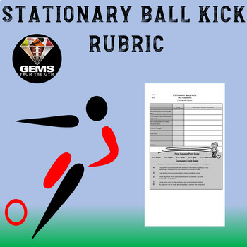 Stationary Ball Kick Rubric - Step by Step Cues!