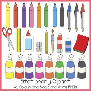 Stationary Clipart