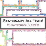 Stationery Template Back to School Newsletter Thank You Notes