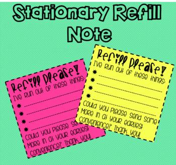 Stationary Refill Notes