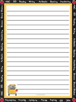 Stationary-Thematic Writing Paper -50 designs