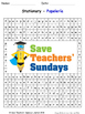 Stationary in Spanish Worksheets, Games, Activities and Flash Cards