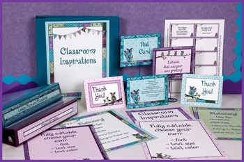 Stationery Bundle - Coordinates with Book Smart Owls Classroom Theme
