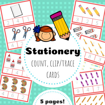 Stationery Count Clip/Trace Cards