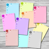 Stationery Letter Paper - Music Pastels