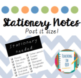 Stationery Notes (Post it size) *FREEBIE*