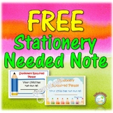 FREE Supplies Stationery Needed Note