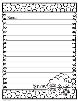 Stationery and Writing Ideas for Weather