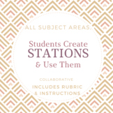 Stations Activity: Students Make Stations, Adaptable for Any Content Area!