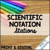 Scientific Notation Print & Digital Stations   Distance Learning