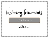 Stations: Factoring Trinomials with a=1
