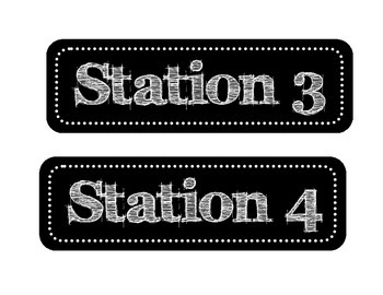 Stations Labels (Centers)