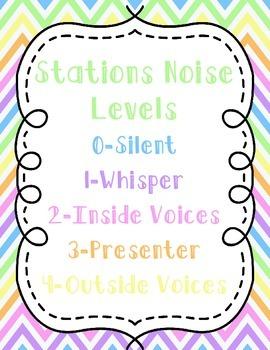 Stations Noise Levels Rainbow Chevron {FREEBIE}