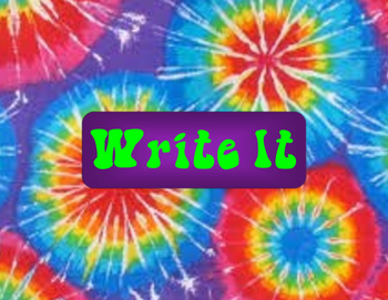Stations Signs Tie Dye Theme