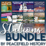 Stations and Gallery Walk Bundle First Half of U.S. Histor