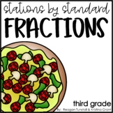 Stations by Standard Fractions Third Grade