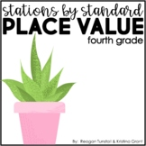 Stations by Standard Place Value Fourth Grade