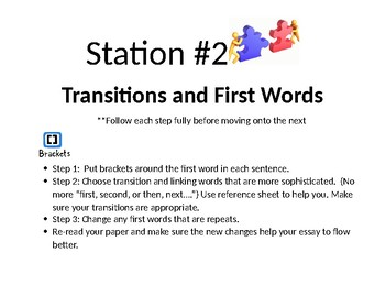 Stations for Editing Essay Writing