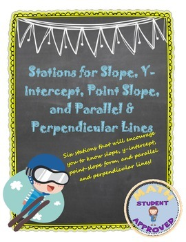 Stations for Slope, Y-intercept, Point Slope,Parallel Lines Activity