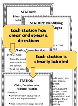 Stations for Practicing Argument