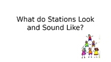 Stations look and sound like