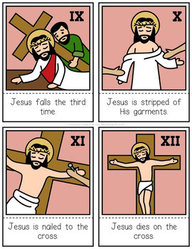 Stations of the Cross 3-Part Cards