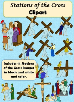 Stations of the Cross Clip Art